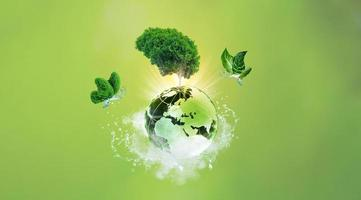 Beautiful green background photo