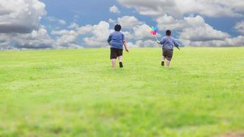 Children playing outdoor photo