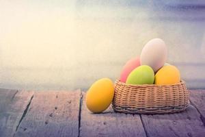 Eggs easter on wood photo