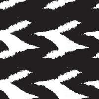 trazo de pincel blanco y negro de patrones sin fisuras de piel vector