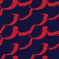 trazo de pincel rojo piel de patrones sin fisuras vector