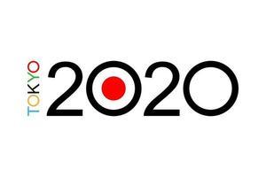 juegos olímpicos de tokio 2020 fondo icono de campeonato, forma geométrica abstracta. símbolo de deporte de verano de Japón en ilustración plana vectorial. concepto de competición deportiva. diseño de fondo, banner vector