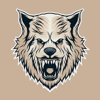 Wolf head vector illistration