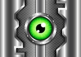 Green eye safety and security mechanism of technology futuristic digital concept .Abstract background vector
