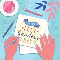 Left Handers Day vector