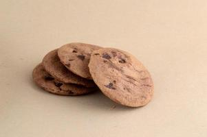 Chocolate Chip Cookie in plate photo
