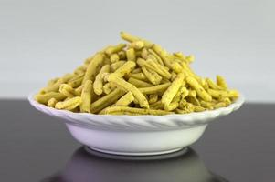 Ratlami Sev Snacks of chick peas with punch of clove. photo