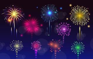 Fireworks Background Night Sky vector