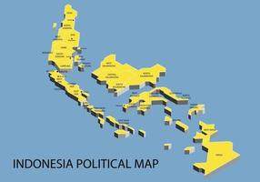 Indonesia political isometric map divide by state vector
