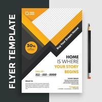 Free Real Estate Business Flyer poster pamphlet brochure cover design layout background, vector template in A4 size - Vector