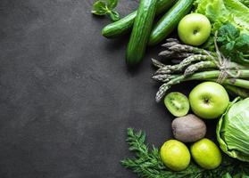 Fondo de concepto de comida vegetariana saludable foto