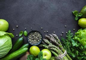 Healthy vegetarian food concept background photo