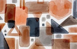 Modern Abstract Geometric Background In Watercolor Style vector