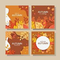 Fall Season Card Collection vector