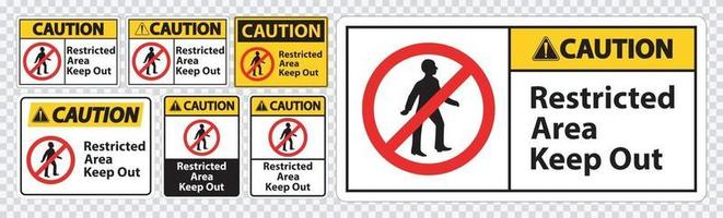 Caution Restricted Area Keep Out Symbol Signs vector