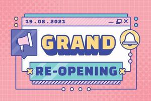 Grand Re-Opening Background vector