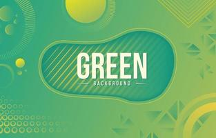 Green Geometric with Circle vector