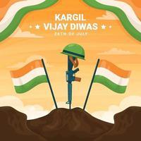 Kargil Vijay Diwas India vector