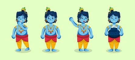 Janmashtami Character Collections vector