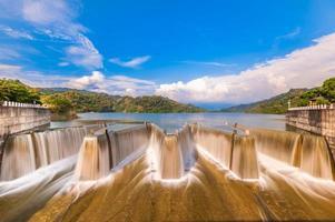 Scenery of check dam in Miaoli, Taiwan photo