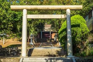 Torii of Tongxiao Shinto Shrine in Miaoli, Taiwan photo