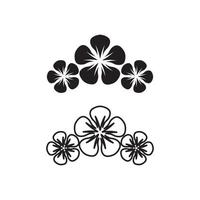 flower set vector logo and design for business design garden icon nature and beauty blossom