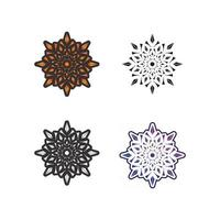 flower vector icon design MANDALA AND ABSTRACT beauty nature logo business and care