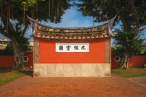 Wall of Supreme Knowledge at Pingtung Confucius temple, Taiwan photo