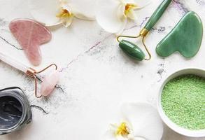Set of natural SPA cosmetics photo