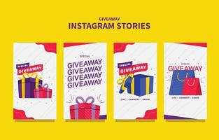 Giveaway Template for Social Media Story vector