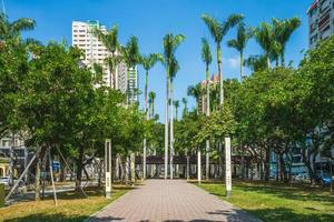 Scenery of Art Museum Parkway in Taichung, Taiwan photo