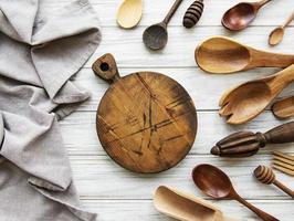 Old vintage kitchen utensils photo