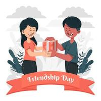 Take and Give on Friendship Appreciation Day vector
