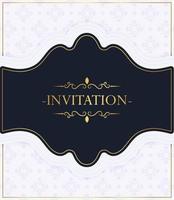 elegant blue pattern style invitation vector