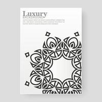 elegant white cover with mandala vector
