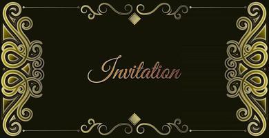 luxury invitation background style ornamental pattern vector