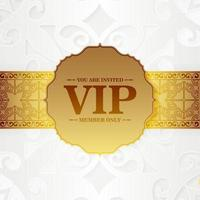 luxury white vip card in ornament texture vector