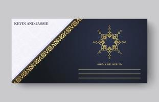 luxury wedding invitation card vector