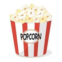 cinema popcorn bucket vector