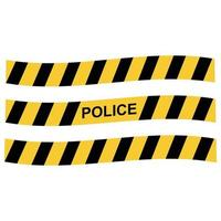 cinta policial fronteriza vector