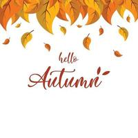 Hello Autumn logo background vector