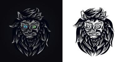 cute cat mascot logo vector illustration