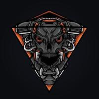 satan triangle mascot logo vector illustration
