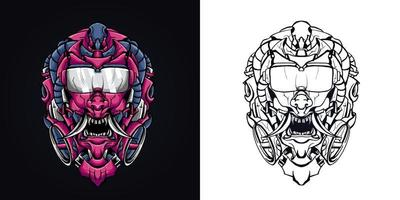 satan glasses mascot logo vector illustration