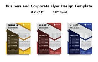 Business Corporate Flyer Template Set vector