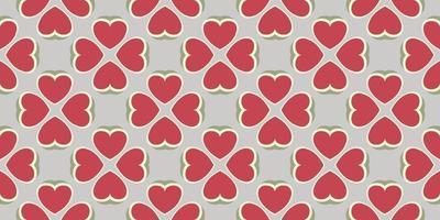 Pattern heart background Vector illustration