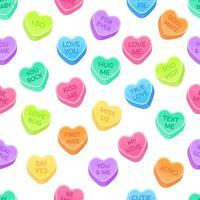 sweetheart candies set seamless pattern vector