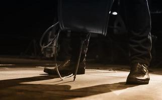 Singer feet in a concert photo