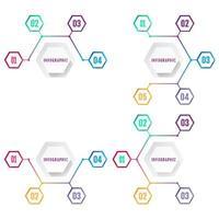 Modern Hexagon Business Infographic Design Template Vector