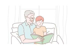 Grandfather day concept vector